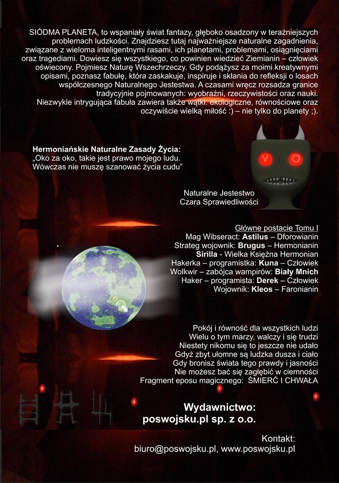 Siódma Planeta tylna okładka